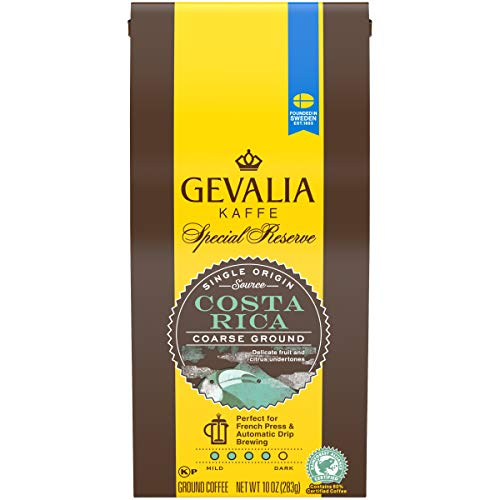 Gevalia Special Reserve Costa Rica Medium Roast Ground Coffee (10 oz Bag)
