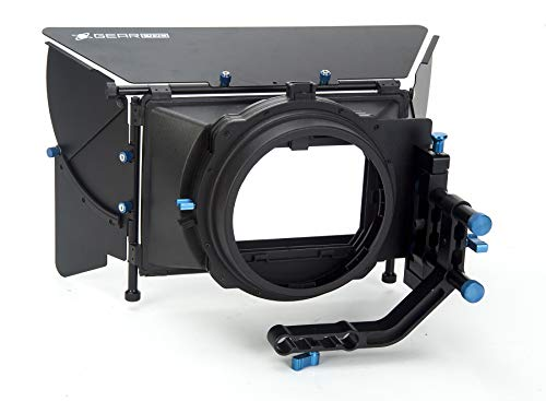 Digital Juice Matte Box Pro Affordable, DSLR Camera Rig Film Movie Video Making System Kit w/Follow Focus, Matte Box for Canon Nikon Sony and Other DSLR Cameras Video Camcorders