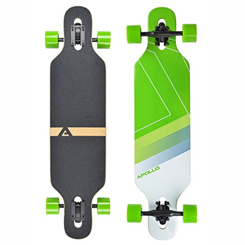 Apollo Longboard Bikini, Komplettboard, Twin-Tip Drop-Through Freeride Cruiser Board