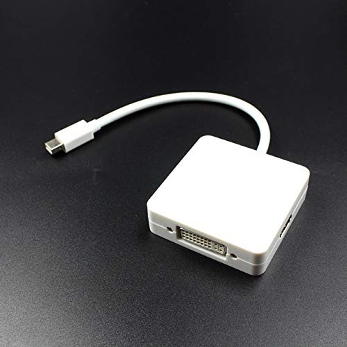 NancyMissY Mini Dp To Hdmi-Compatible Vga 3In1 Mini Display Port Dp Thunderbolt To Dvi Vga Hdmi-Compatible Adapter Cable L