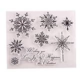TOSSPER 1 Stück Transparente Briefmarken Schneeflocke Weihnachten Klare Stempel Gummi Silikon Scrapbooking Für Kartenherstellung Album Craft Decor