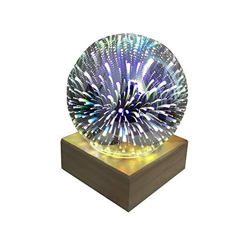 Lámpara de esfera de colores recargable con USB, bola de cristal 3D mágica para niñas, Navidad, Halloween, regalo de cumpleaños