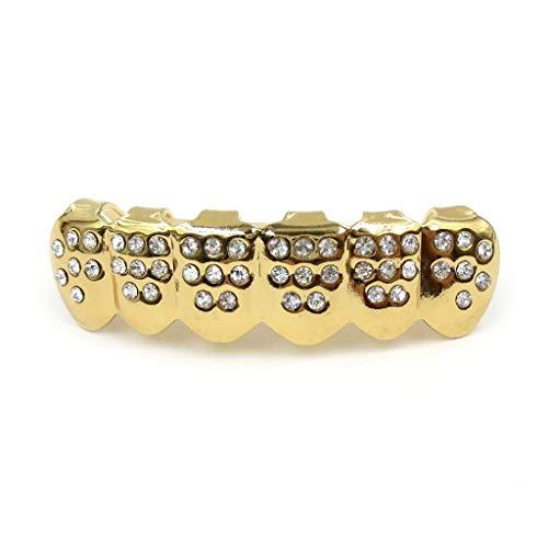 lijun New Fshion Gold Silber Zähne Grillz Top Bottom Bling Männer Frauen Juwel