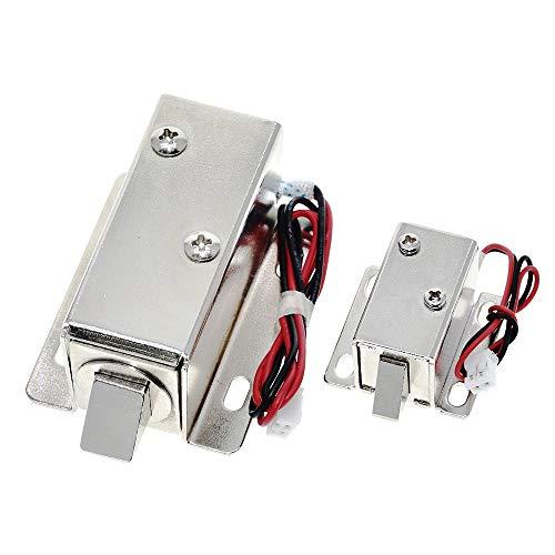 Hui Ni DC12V 0.35A 0.6A kleine elektromagnetische opslag sluis kasten elektronisch slot mini elektrische boutslot dossierkast lock (Size : 12V-0.6A)