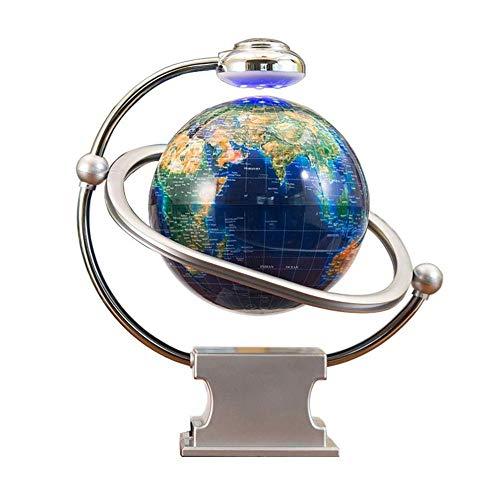 CHOUE 8' Schwimmende Kugel mit LED Lampe,Blau Schwarz Freischwebender Globus für Zu Hause Wohnzimmer Büro Geburtstagsgeschenk Led Anti-Schwerkraft Globe