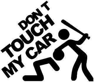 KUNFINE Coche Estilo Adhesivo Don 't Touch My Car Piezas de Coche, de Vinilo decoración película Coche DIY Adhesivo Tuning 20* 15* 1cm
