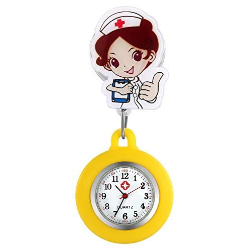 Lancardo Orologio Nurse Quarzo Infermiera Medico Donna Cartone Silicone Quadrante Digitale Non Impermeabile,Colore da scelta Regalo Perfetto