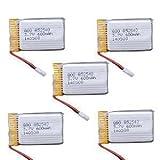YUNIQUE ESPANA 5 Piezas 3.7V 600mAh Lipo Baterías para SYMA X5c X5SW X5SC X5