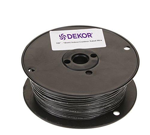 DEKOR Outdoor Low Voltage Wire18 Gauge 2 Conductor 100ft Direct Bury for Landscape Lighting