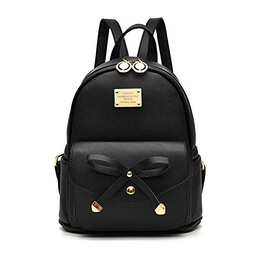 Image of the Girls Bowknot Cute Leather Backpack Mini Backpack Purse for Women