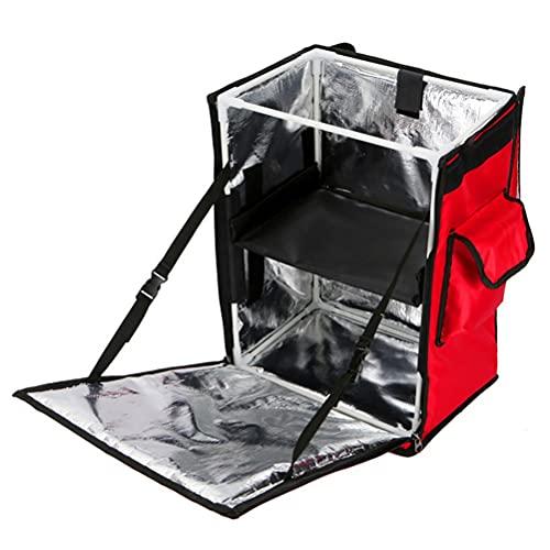 GJRFYJ Shypa 43L Capa Doble Saque la Entrega de Almuerzo Bolsa de Asas de Aluminio Papel de Aluminio Oxford Bag Cesta de Picnic Caja de Comida de Picnic aislada Caliente y frío
