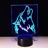 Qaq Starry Sky3D - Lámpara LED de pared con forma de banco de energía (inalámbrica, 7 colores cambiantes)