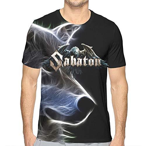 Good4Yours Herren klassisches T-Shirt Sa-Ba-Ton- 3D-bedrucktes T-Shirt Lässige Kurzarm-T-Shirts Herren-T-Shirt mit Rundhalsausschnitt für Männer im Freien