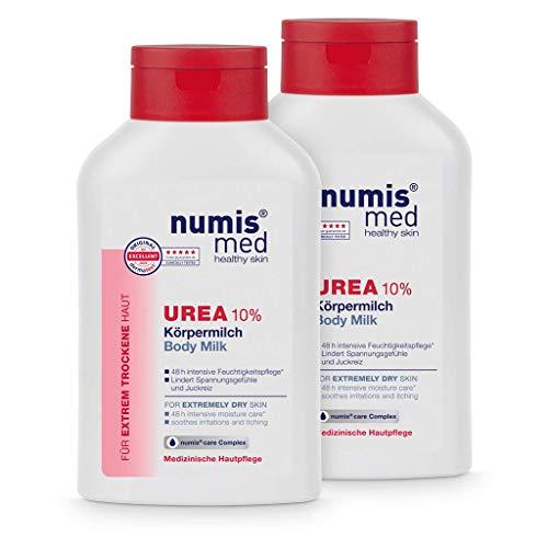 numis med Körpermilch mit 10% Urea - Hautberuhigende Bodylotion für extrem trockene, zu Juckreiz neigende Haut - vegane Hautpflege ohne Silikone, Parabene & Mineralöl...