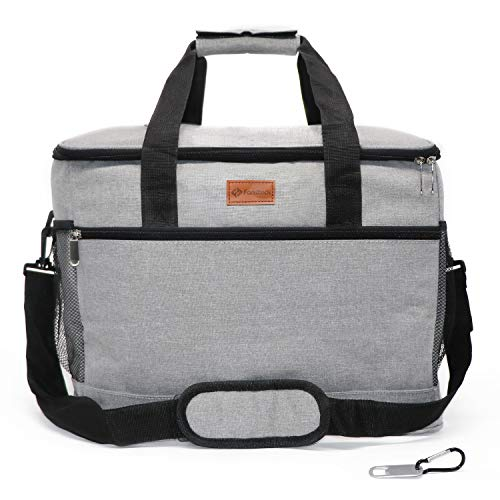 Fansteck Kühltasche 30L Gross faltbar, Kühlbox Lunchtasche, Thermotasche Cooler Bag wasserdicht isoliert für Lebensmitteltransport Outdoor Camping Reisen Picknick