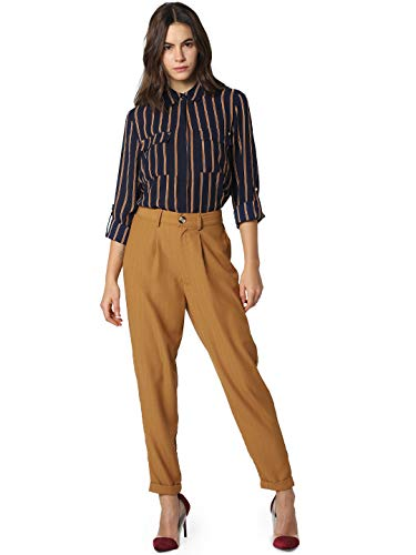 ONLY Damen ONLIDINA LS Shirt WVN Bluse, Mehrfarbig (Night Sky Stripes: Cl.Dancer & Sugar Almond), (Herstellergröße: 36)