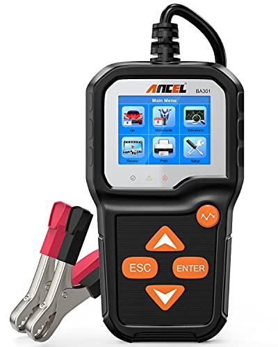 ANCEL BA301 6V 12V Probador de Carga de batería Analizador de alternador de automóvil Sistema de Carga de Arranque Herramienta de Prueba para Motocicleta Coche Barco Camión Ligero y más