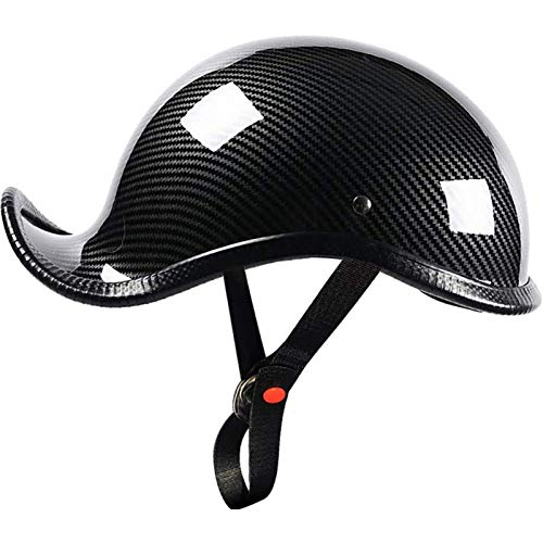 JLLXXG Adult Retro Open Face Helmets Motorcycle Half Helmet DOT Approved Men and Women Cruiser Electric Scooter Chopper Moped Skull Cap Helmet