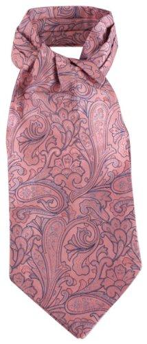 Knightsbridge Neckwear Pink Paisley Silk Cravates de