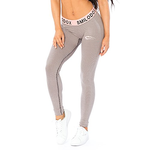 SMILODOX Sport Leggings Damen | Seamless - Figurformende Leggings für Sport Fitness Gym Training & Freizeit | Sporthose - Workout Trainingshose - Tights Laufhose, Farbe:Rosa, Größe:M