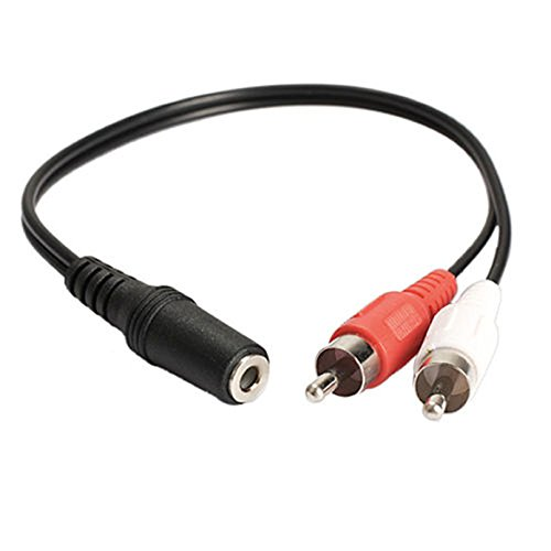 Cable de Audio Adaptador, Conector Hembra estéreo de 3,5 mm a 2...