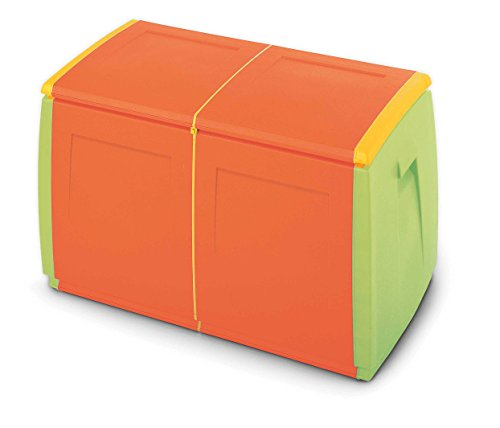 TERRY in & out Box 97 Baule in Plastica, Arancione, 97x54x57 cm