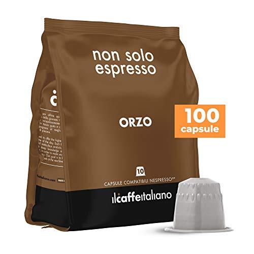 FRHOME - 100 Cápsulas compatibles Nespresso - Cebada - Il Caffè italiano