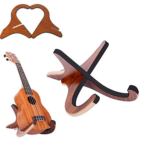 Snowtain Soporte de Madera para Guitarra,Soporte Guitarra Suelo,Soporte para ukelele,Soporte PortáTil para Instrumentos Musicales,Soporte Guitarra Electrica para Guitarra Eléctrica Acústica