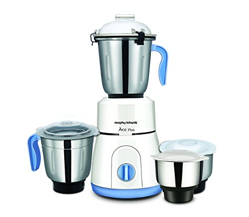 Morphy Richards Ace Plus 750-Watt Mixer Grinder with 3 Jars (White)
