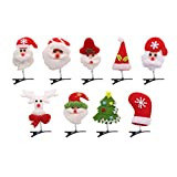 Toyvian 9pcs Christmas Hair Clips Spring Hair Accessory for Ladies Girl Christmas Supplies