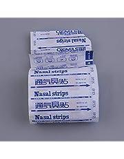Greatangle 50 piezas de tiras nasales de gran respiración Forma correcta de dejar de roncar Tiras anti ronquidos Más fácil respirar Dormir Cuidado de la salud humana Piel