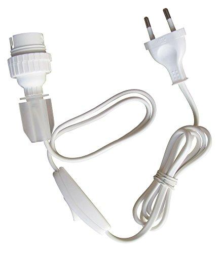 Tibelec 858810 portalámparas para botellas, B22, con interruptor y connettore, blanco
