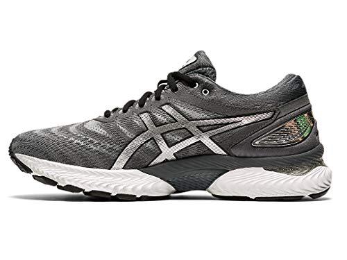 ASICS Men's Gel-Nimbus 22 Platinum Running Shoes, 9, Carrier Grey/Pure Silver