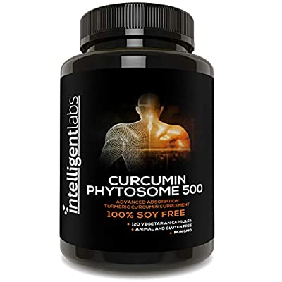 500MG Curcumin Phytosome as Meriva, 2900% More Better Absorbed Than Ordinary Turmeric Curcumin 100% Soy Free, 120 Capsules Per Bottle, Tumeric Curcumin Phytosome Complex from Intelligent Labs