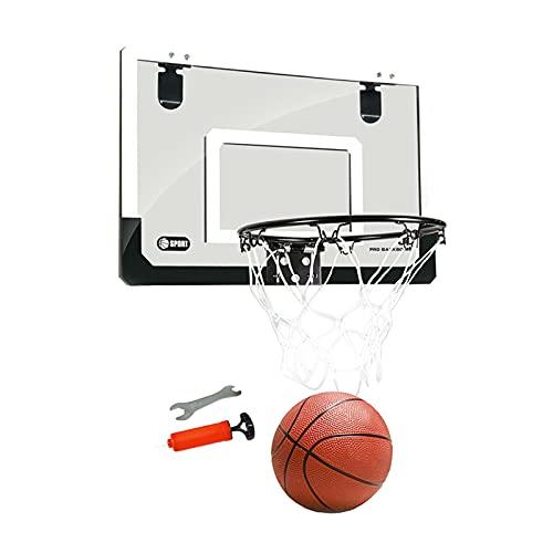 FITYLE Mini aro de Baloncesto para niños Interior montado en la Pared/Puerta Juego de Pelota de Tiro Juego Deportivo para niños niñas Dormitorio - Negra