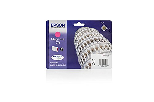 Original Epson C13T79134010 / 79 Tinte (magenta, Inhalt 6,50 ml) für Workforce Pro WF-4630, WF-4640, WF-5110, WF-5190, WF-5620, WF-5690