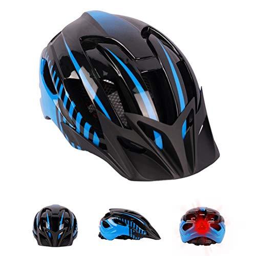 Oyria Fahrradhelm mit Sicherheits-LED-Licht Einstellbarer Mountain Road Fahrradhelm Superleichter Fahrradhelm mit abnehmbarem Visier Komfortabler atmungsaktiver Rennradhelm