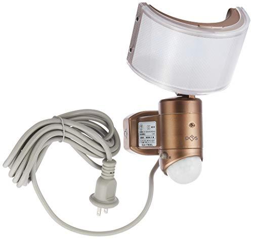 大進 センサーライト コンセント式 電球色LED 明るさ750ルーメン 広角レンズ 防雨構造