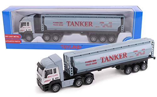 Toyland® 28cm Spielzeug LKW & Anhänger - Diecast - Modellspielzeug & Fahrzeuge - Verschiedene Designs (Tankwagen)