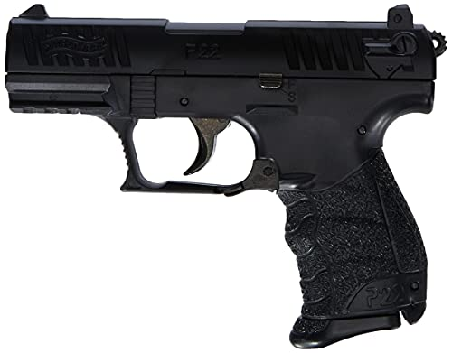 walther WA25891 Softair P22Q Metal Slide mit Maximum 0.5 Joule Airsoft Pistole, Schwarz, 6 mm