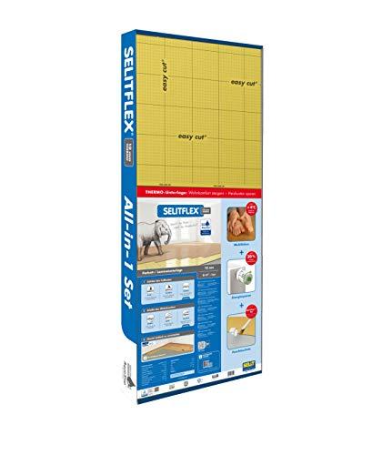 SELITFLEX 10 mm Thermo - Verlegeunterlage für Parkett und Laminat mit Feuchteschutz (6 m² + Tape)