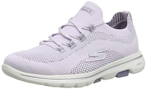 Skechers Damen Go Walk 5 Uprise Sneaker, Lavender Textile Trim, 38 EU