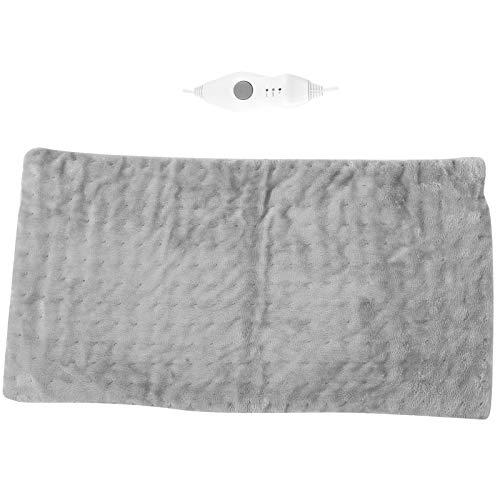 Almohadilla térmica eléctrica, 3 engranajes, ajustable, lavable y portátil, manta que calienta...