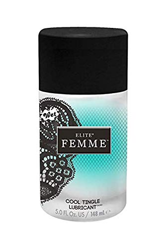 Wet Lubes Wet Elite Femme Water Silicone Blend Cool Tingle 5.0 Fl.oz/148ml