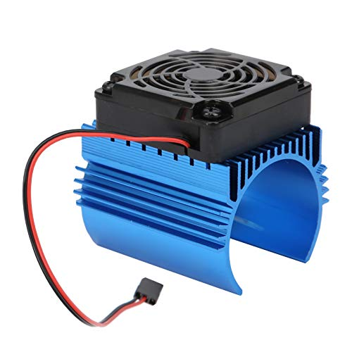 VGEBY Disipador de Calor del Motor del Coche de RC, radiador del Motor del Ventilador de enfriamiento de la aleación de Aluminio 5V del 1: 8 para el Motor 4465