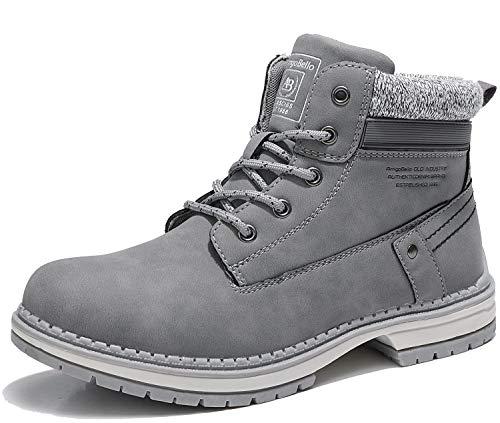 ARRIGO BELLO Botas Mujer Botines Zapatos Invierno otoño Botas de Nieve Aire Libre Boots Urbano Fiesta Oficina Caminando Senderismo 36-41 (Tela Gris Completo, Numeric_38)