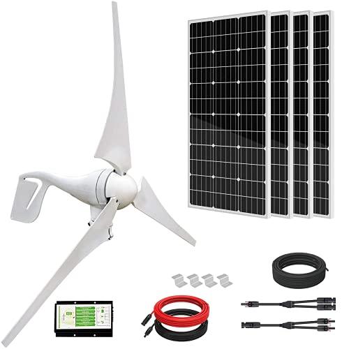 ECO-WORTHY 800W 12V/24V Solar Wind Turbine Generator Kit:...