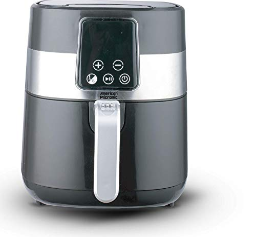 American Micronic- AMI-AF1-35CLDx- Imported 3.5 Liters 1500 Watts Digital Air Fryer (Silver & Black) New Upgraded 2021 Model