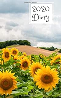 2020 Diary: 5x8  week to a page planner with 12 monthly planners. Lined paper pages after diary for all your notes. Perfect for general use, small business owners and students. Sunflowers design