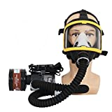 Electric Constant Flow Supplied Air Fed Full Face Respirator Gas Mask Blower/Breathing Tube/Charger/Filter/Belt